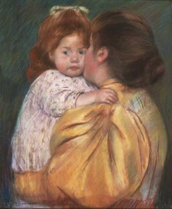 Cassatt mom and daughter